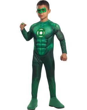 Deluxe Muskulær Green Lantern Barne Kostyme