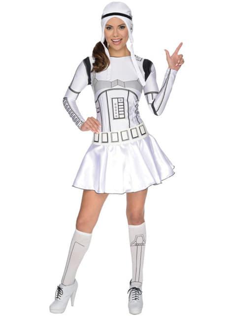 Stormtrooper kostyme med skjorte til dame