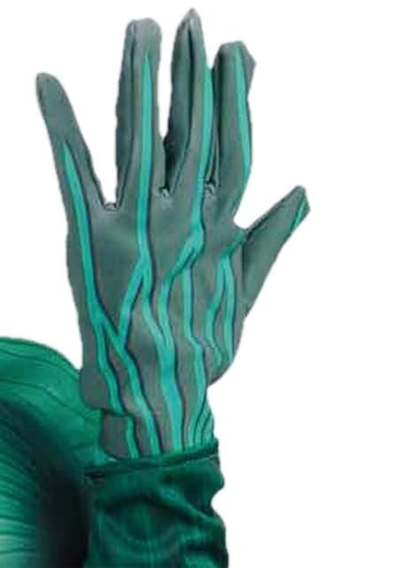 Rękawiczki świecące zielone dla dzieci