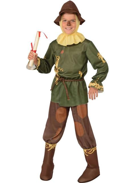 Scarecrow kostume grønt til børn