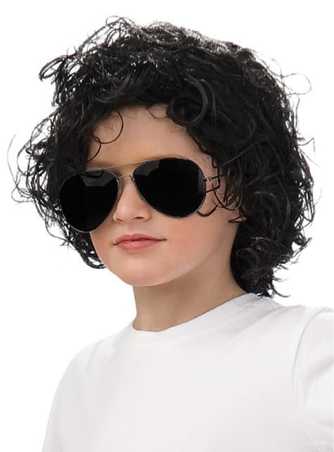 Peluca de Michael Jackson para niño