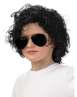 Perruque de Micheal Jackson pour garçon