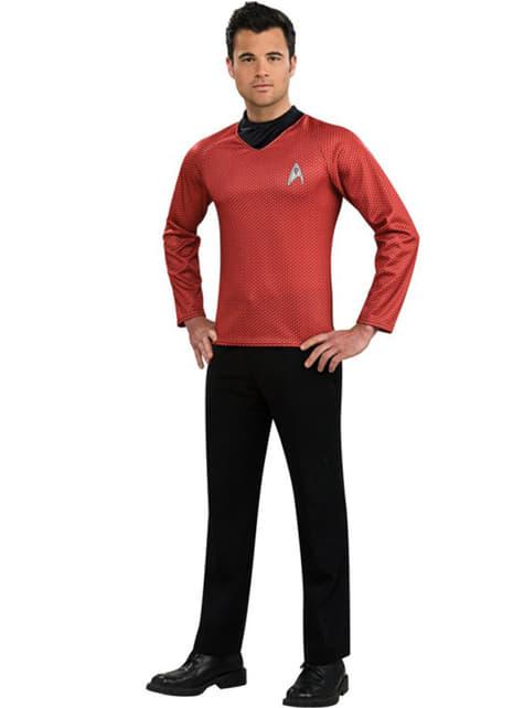 Röd Scotty Star Trek dräkt