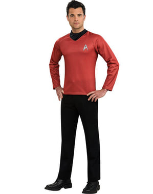 Rødt Scotty kostume Star Trek