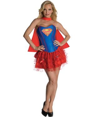 Fato de Supergirl corpete