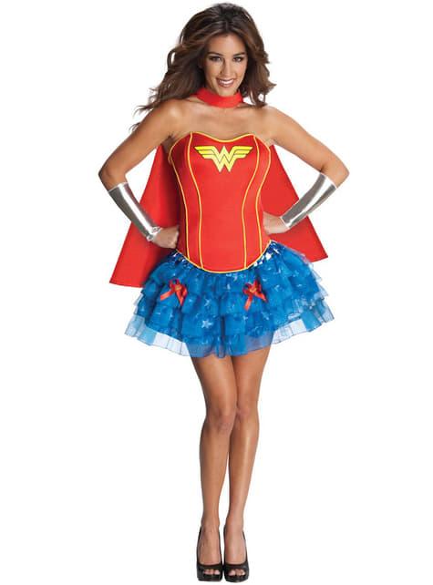 Déguisement de Wonder Woman corset