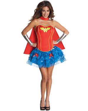 Fato de Wonder Woman corpete