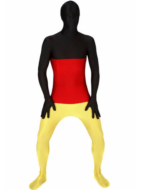 Disfraz de bandera de Alemania Morphsuit - adulto