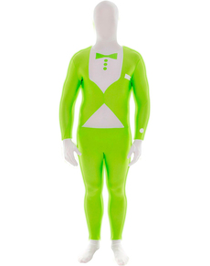 Disfraz de esmoquin verde luminoso Morphsuit