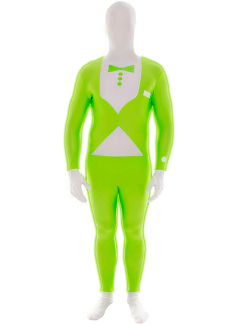 Costum smoking verde luminos Morphsuit