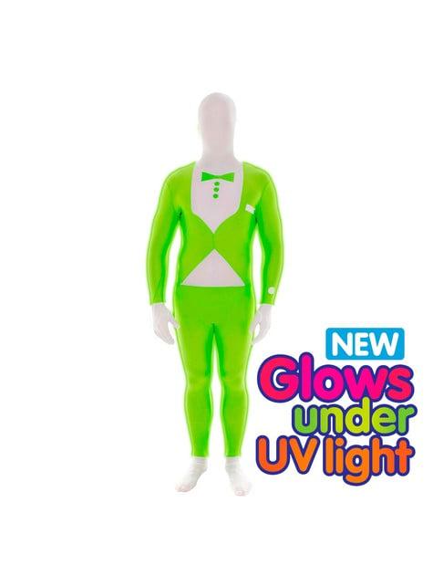 Glødende Grønn Smoking Morphsuit Kostyme Voksen