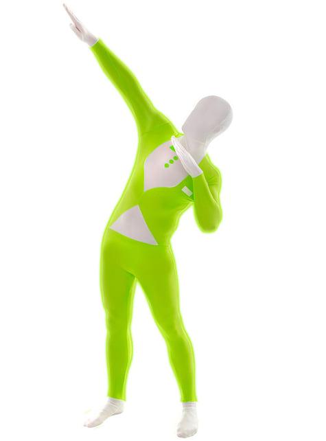 Glänzender Smoking Morphsuit Grün