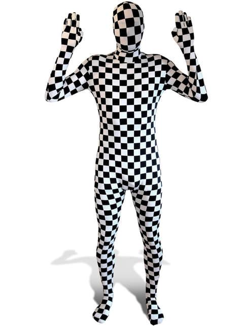 Kostkovaný kostým pre dospelých Morphsuit