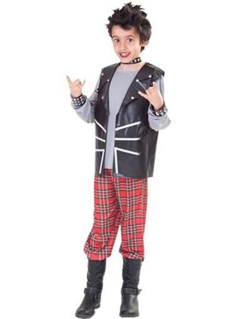 Disfraz de niño punk
