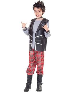 Costume de garçon punk