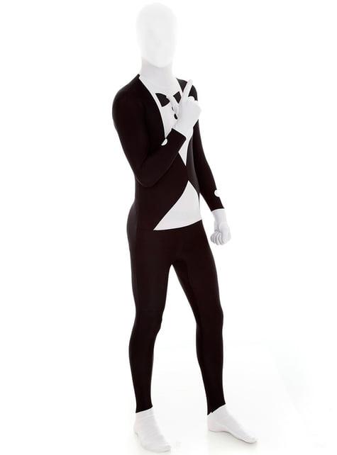 Kostým Morphsuit čierny smoking Slenderman
