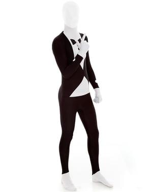 Slenderman Sort Smoking Morphsuit Kostume
