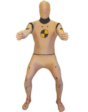 Crash Test Dummy Adult Morphsuit Costume
