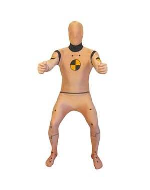 Crash Test Dummy Adult Morphsuit Costume