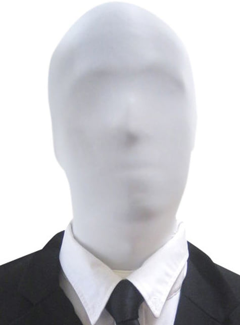 ホワイトスレンダーマンモーフスーツマスク