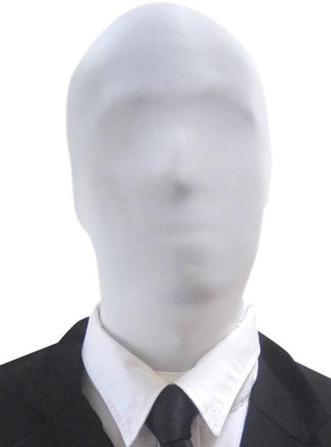 Weiße Morphsuit Maske