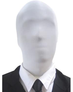 Valkoinen Slenderman Morphsuit-naamio