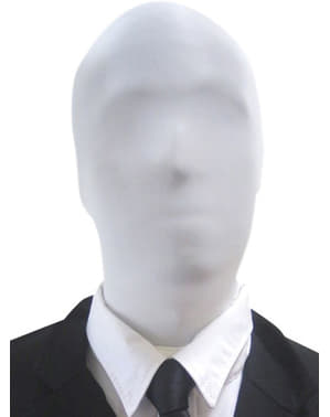 White Slenderman Morphsuit Mask