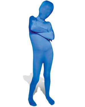 Blå udklædning Morphsuit til børn