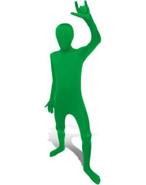 Morphsuit kostume grøn til små børn