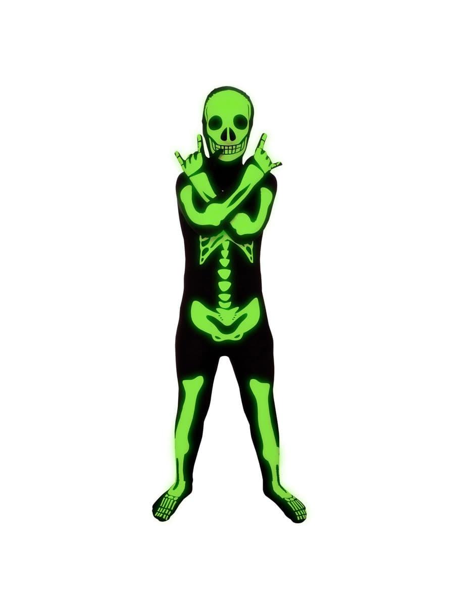 costume de squelette brillant morphsuits enfant les plus amusants funidelia. Black Bedroom Furniture Sets. Home Design Ideas