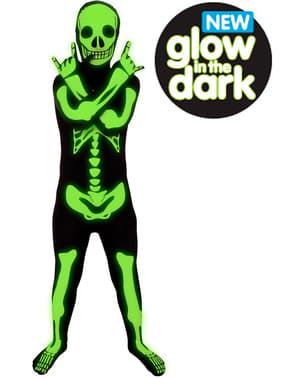 Детски костюм Morphsuit на светещ скелет