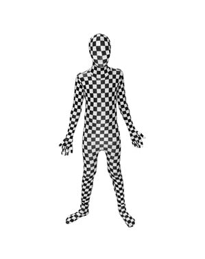 Checkered Toddler Morphsuit Costume