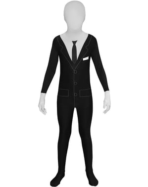 Slenderman Smoking Morphsuit Kostyme for Barn
