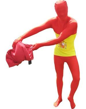 Spanish Flag Adult Morphsuit Costume