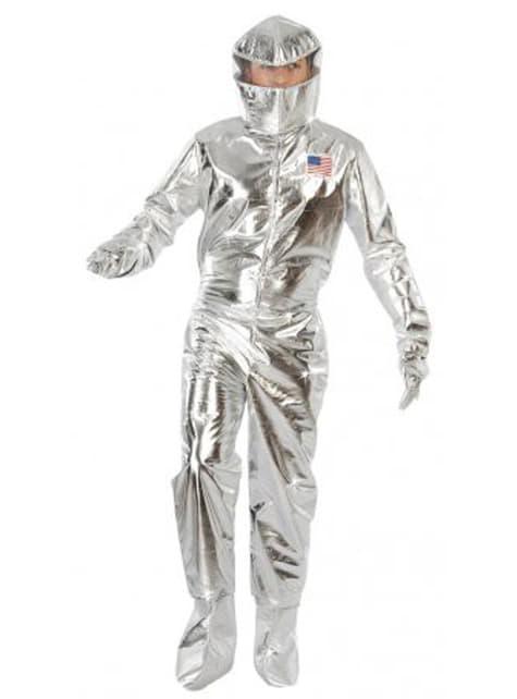 Kostým pro dospělé astronaut stříbrný