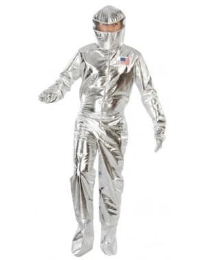 Disfarce de astronauta prateado