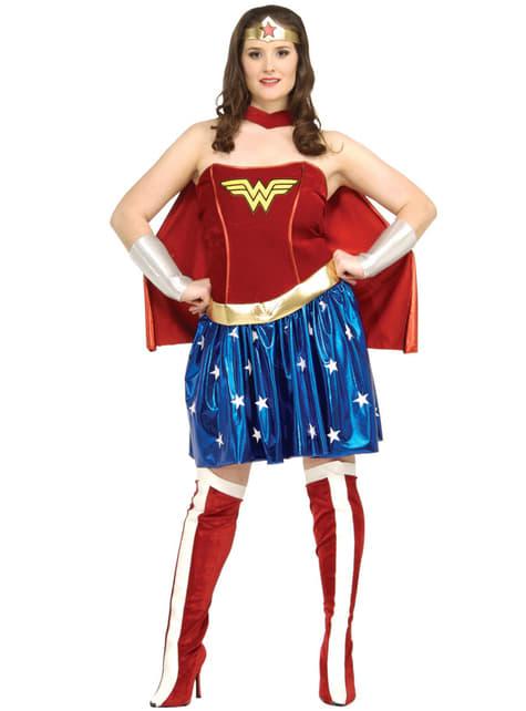Fato de Wonder Woman tamanho grande