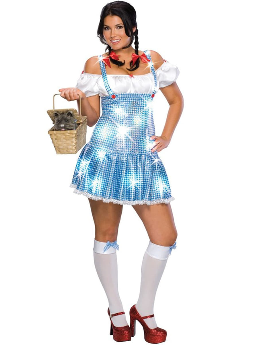 Plus Size Sexy Dorothy Costume. Detalle Zoom  sc 1 st  Funidelia & Plus Size Sexy Dorothy Costume. Fast delivery | Funidelia