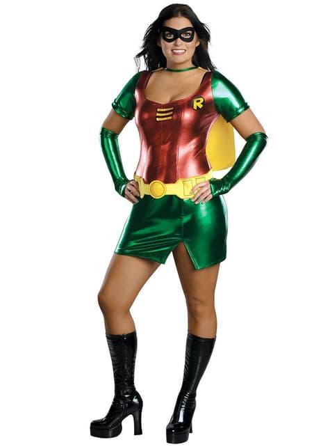 Déguisement de Super Héroïne Sexy Robin grande taille