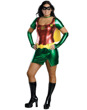 Seksikäs Robin supersankaritar plus size asu