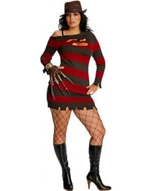 Costume da Mrs Krueger sexy taglie forti