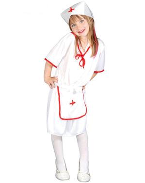 Costum asistentă clasic pentru fată