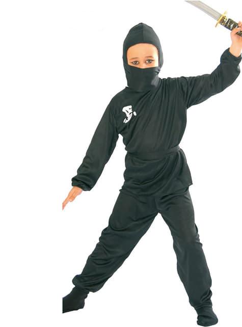 Kostium ninja czarny dla chłopca