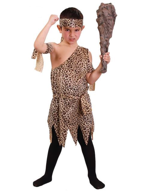 Disfraz de troglodita salvaje para niño