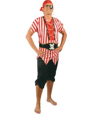 Langveisvarende Pirat Kostyme til Menn