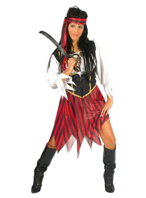 Maskeraddräkt pirat på de sju haven för kvinna