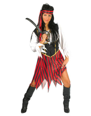 Disfraz de pirata de ultramar para mujer