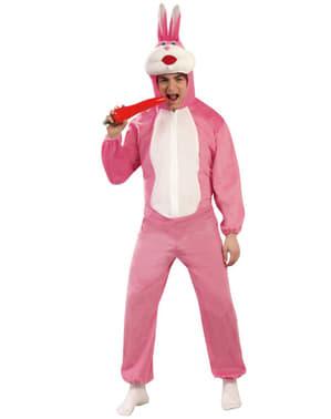Fato de coelho cor-de-rosa