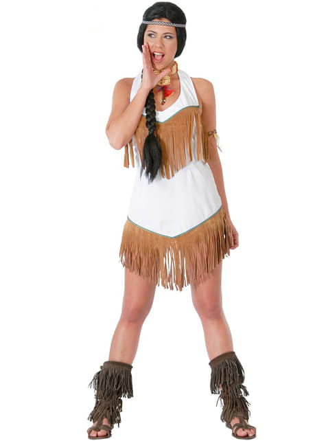 Maskeraddräkt modig indiankvinna
