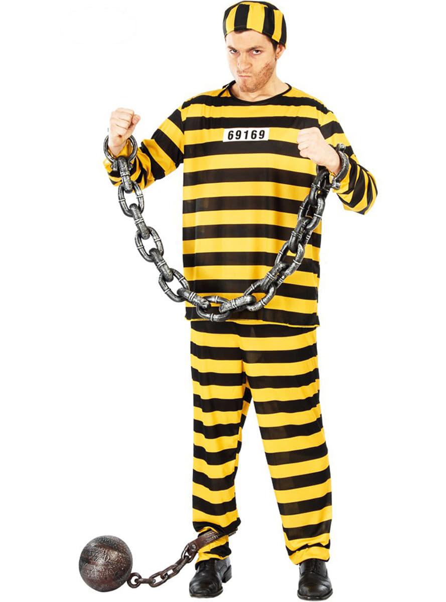 Disfraz de prisionero peligroso: comprar online en Funidelia.
